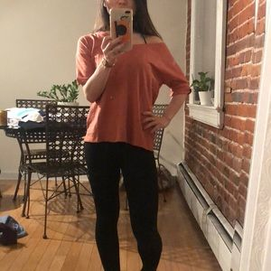 Shimmer orange shirt